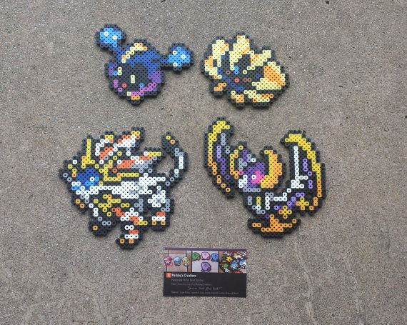 Sun And Moon Legendaries Pokemon Perler Bead Sprites