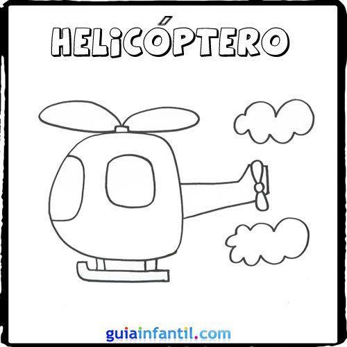 Helicoptero Medios De Transporte Trenes Para Ninos Transporte Preescolar