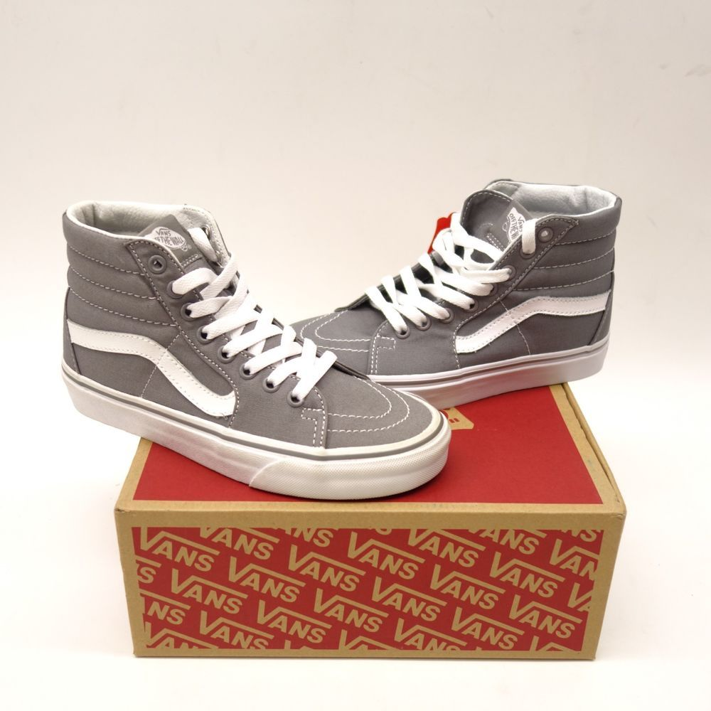 5af53284c3 New Vans Womens Gray Skater High Top Classic Canvas Shoes Size Left 5.5  Right 6  VANS  HighTop