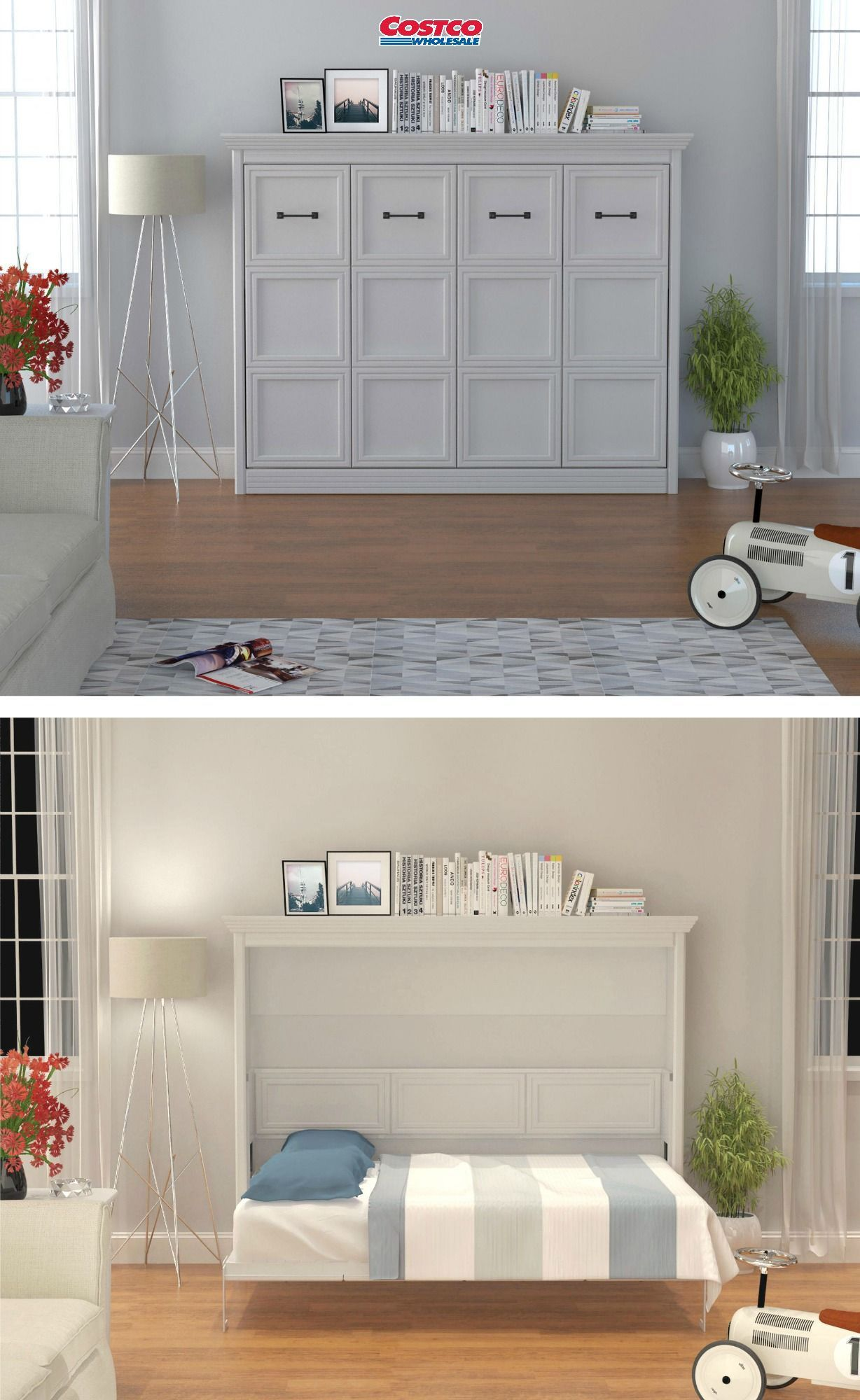 Bed & Room Brisbane Full Landscape Wall Bed in White