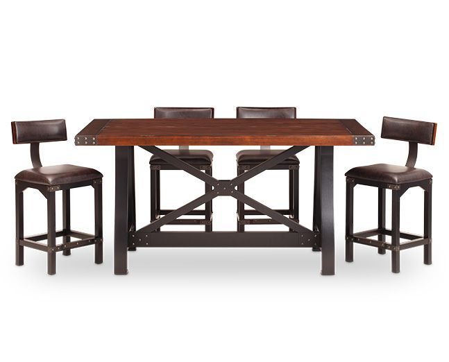 Foundry 5 Pc Barstool Counter Height Dining Set