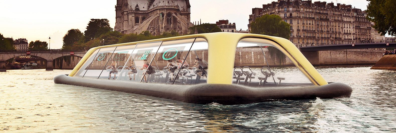 Floating gym will move on the Seine due to the energy of its visitors 58