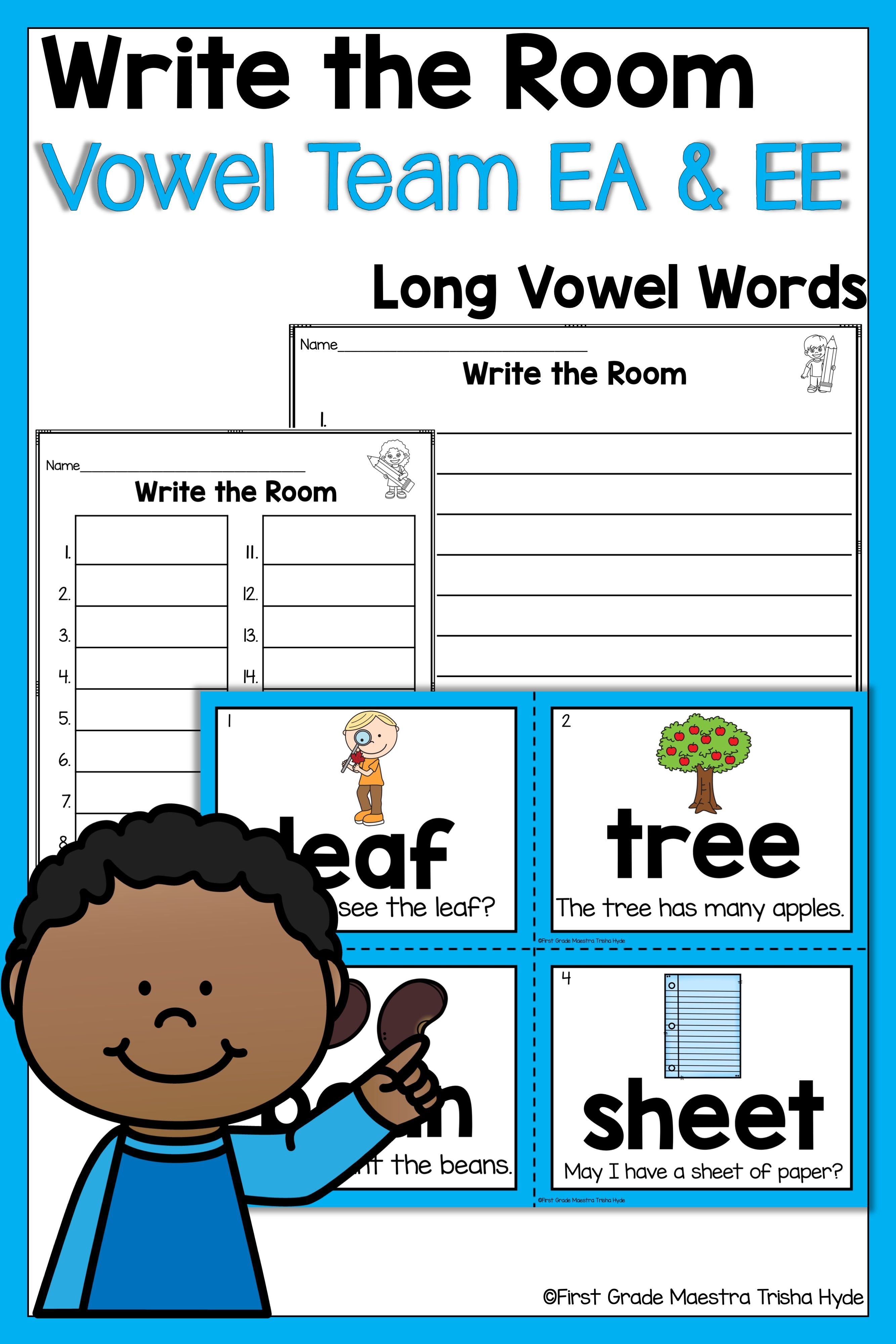 Write The Room Vowel Team Ea And Ee