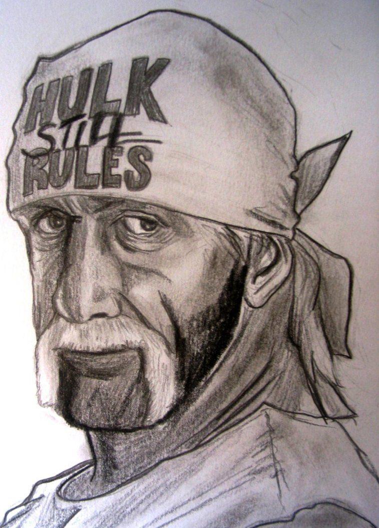 Hulk Hogan Drawing : hogan, drawing, Hogan, Hogan,