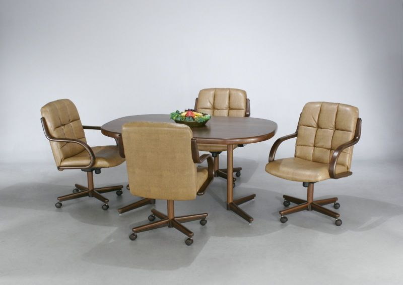 Kitchen Table And Chairs With Wheels Decor Ideas Dinette Sets