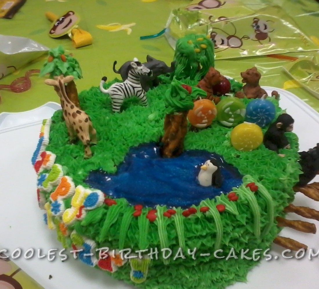 Coolest Zoo Party Animals Birthday Cake Animal birthday cakes
