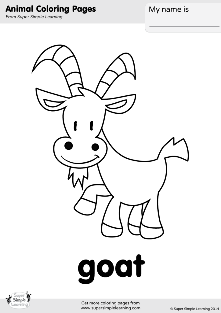 The Animals On The Farm Super Simple Songs Farm Animal Coloring Pages Animal Art Projects Coloring Pages