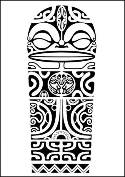 Polynesian Tiki Tattoo Designs: Polynesian Shoulder Tattoo Design With Marquesan Crosses