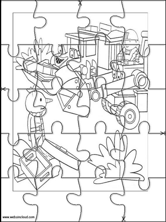 Printable jigsaw puzzles to cut out for kids Bob the Builder 8 Coloring Pages