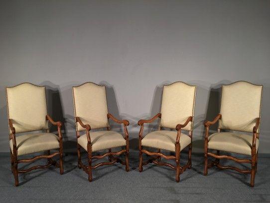 4 Barock Armlehnstühle In Eiche, Frankreich Um 1900 Bernhardts Interior