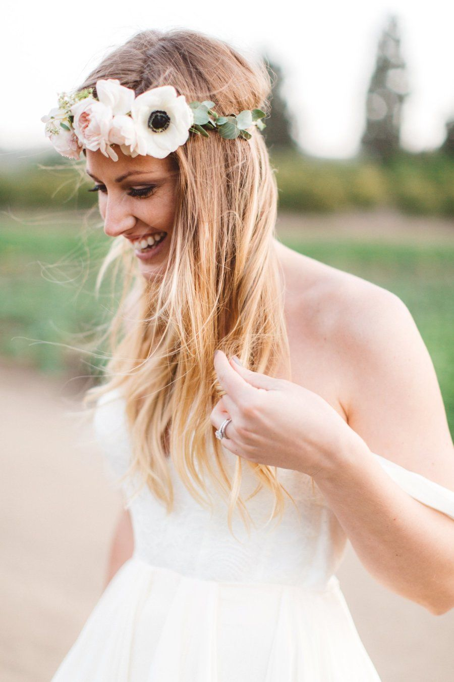 Anemone Bohemian Flower Crown Photography Anna Delores Photography