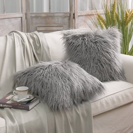 imitation lamb fur pillow cover nordic