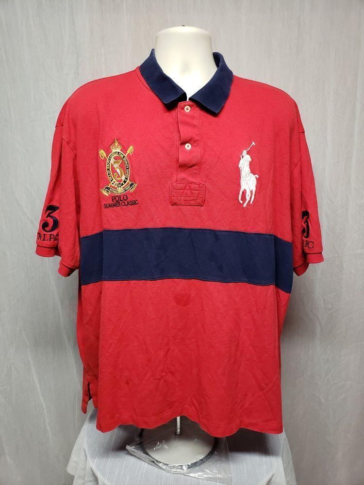 Polo Big Ralph Shirt 2xb 3 Adult Summer Lauren Classic Red wOukiTlXZP
