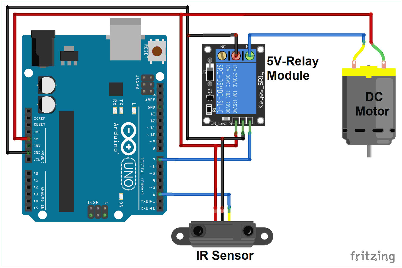 Ir Controlled Dc Motor Using Arduino Arduino Circuit Diagram Electronic Schematics