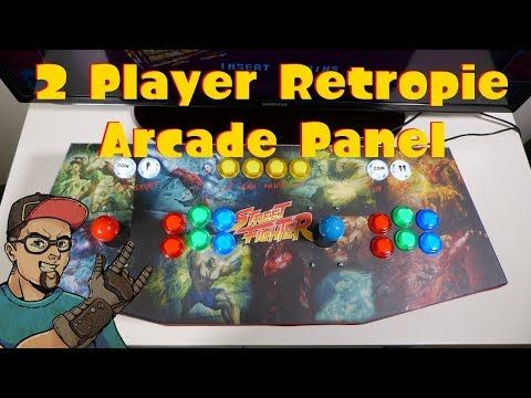 RetroPie 2 Player Arcade Stick Panel With Led Buttons