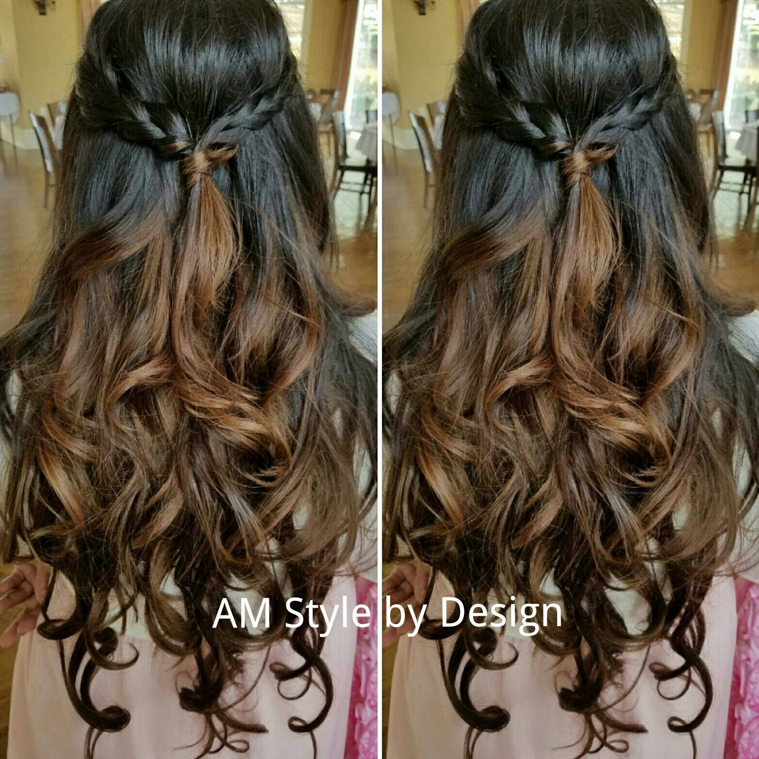 Just Finished Coloring Styling My Clients Hair For Her Baby Shower Amstylebydesign Amstylebydesignfb Baby Shower Hair Styles Hair Styles Curled Hairstyles