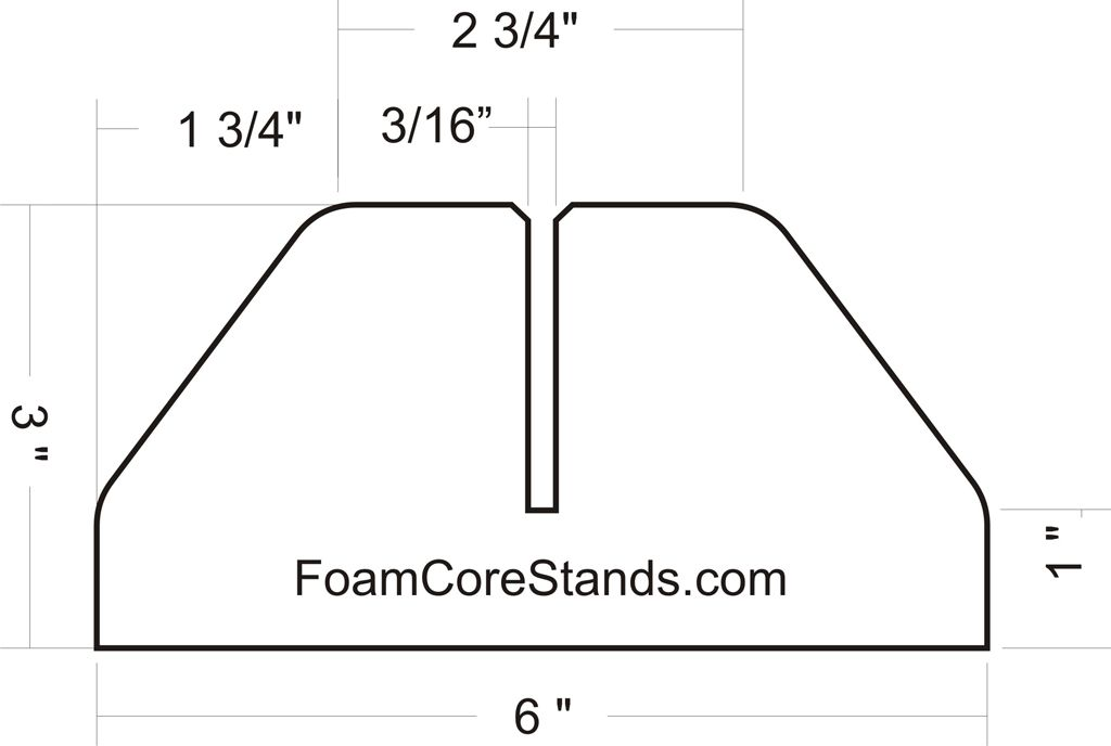 Foam Core Stand Plans Jpg 1024 688 Diy Display Shelf Craft Studio Organization Foam Crafts