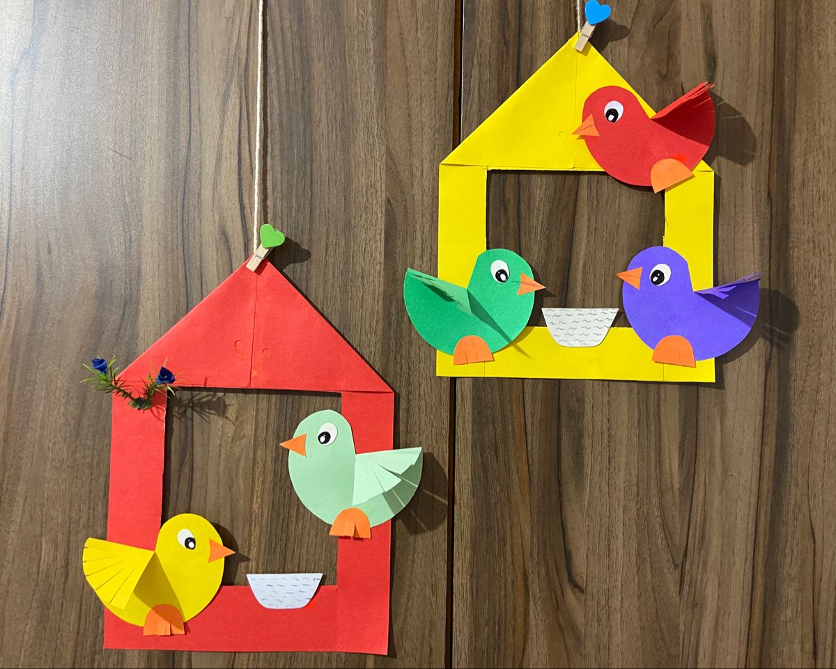 Birds Nest Paper Craft In