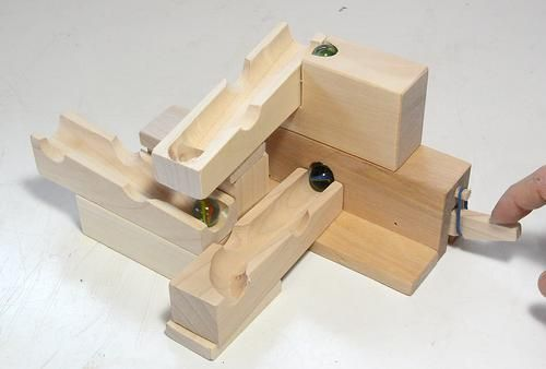 A Simplified Way To Build The Marble Pump Marble Marble Machine Wooden Toy Car