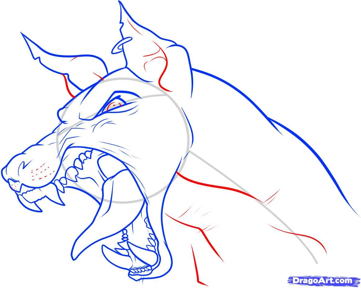How To Draw Puppy Drawing  Growling Dog Drawing How To Draw A Dog Head Step