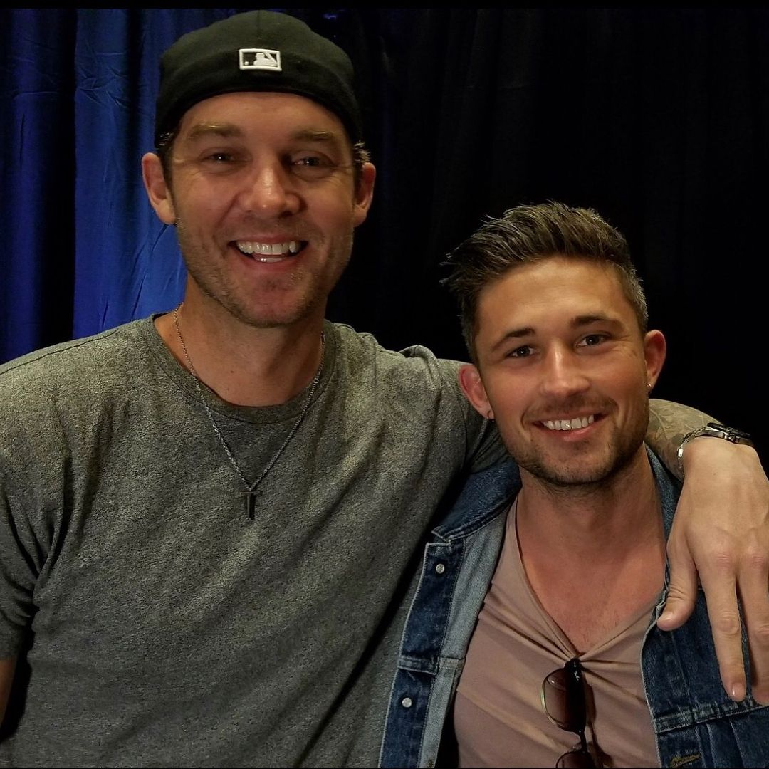 Brett Young hosting @93.1thewolf #ACMRedCarpetCountdown at the MGM ...