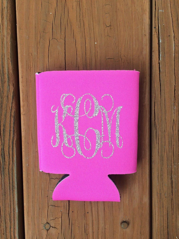 Personalized Koozie, Beer Koozie, Drink Koozie, Monogrammed Koozie, Wedding Party, Bachelorette Party, Bridal Party Gift by PrettyLittleVinyls on Etsy https://www.etsy.com/listing/203434192/personalized-koozie-beer-koozie-drink