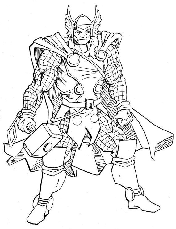 original marvel thor comic art sketch thor by atelierlambert   9 99