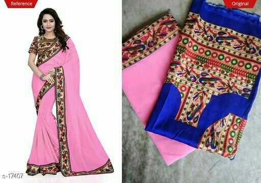 Catalog Name: Mayuri  Fabric: Saree - Georgette, Blouse - Banglori Silk  Size: Saree Length - 5.50 Mtr, Blouse Length - 0.80 Mtr   Work: Border Work  Dispatch: 2 - 3 Days  Designs: 14
