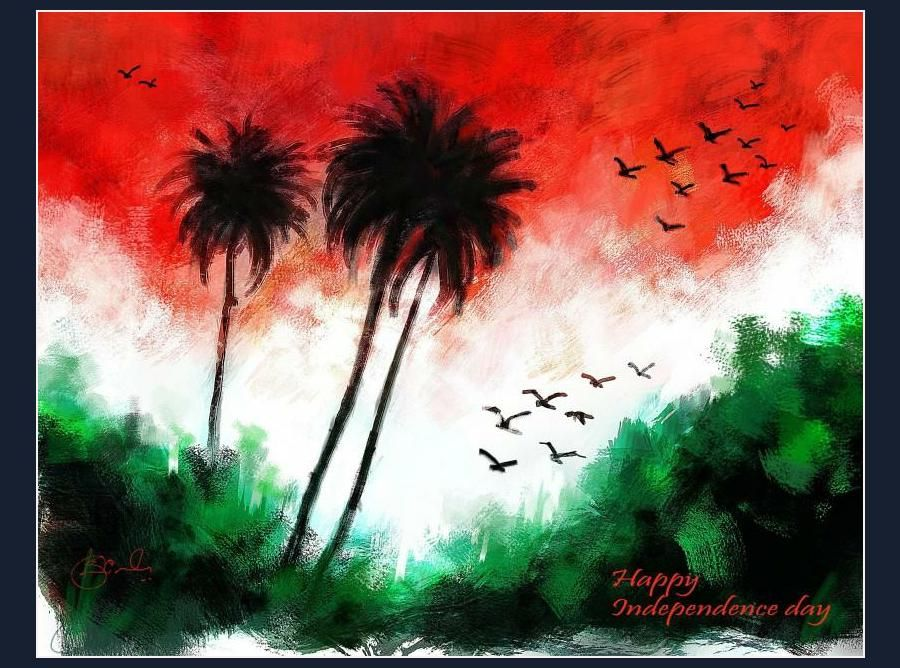 Independence Day Independence Day Drawing Flag Art Flag Painting