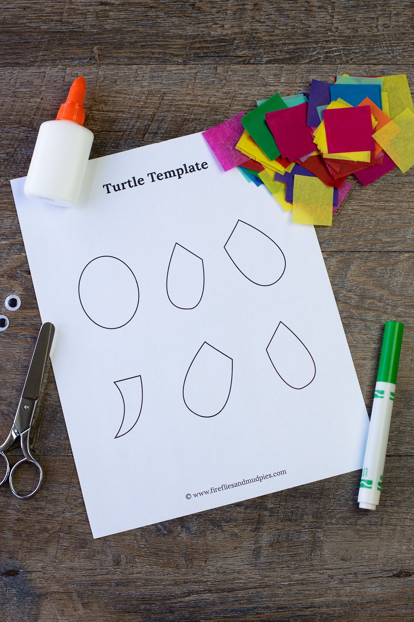 This easy and fun Paper Plate Turtle craft includes a free printable template making it & Tissue Paper and Paper Plate Turtle | Turtle crafts Free printable ...