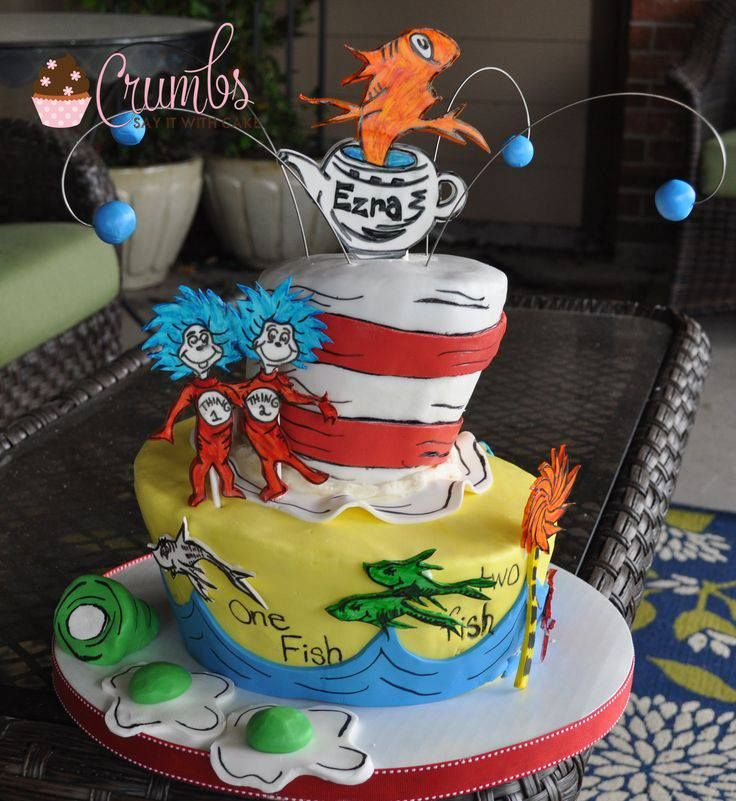 Dr Seuss Green Eggs & Ham Cake   Dr seuss cake, Seuss ...