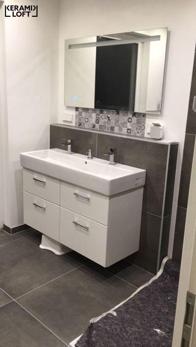 moderne #Betonoptik #Fliese für Ihr #Bad ? #Feinsteinzeug #Kronos - badezimmerwände ohne fliesen