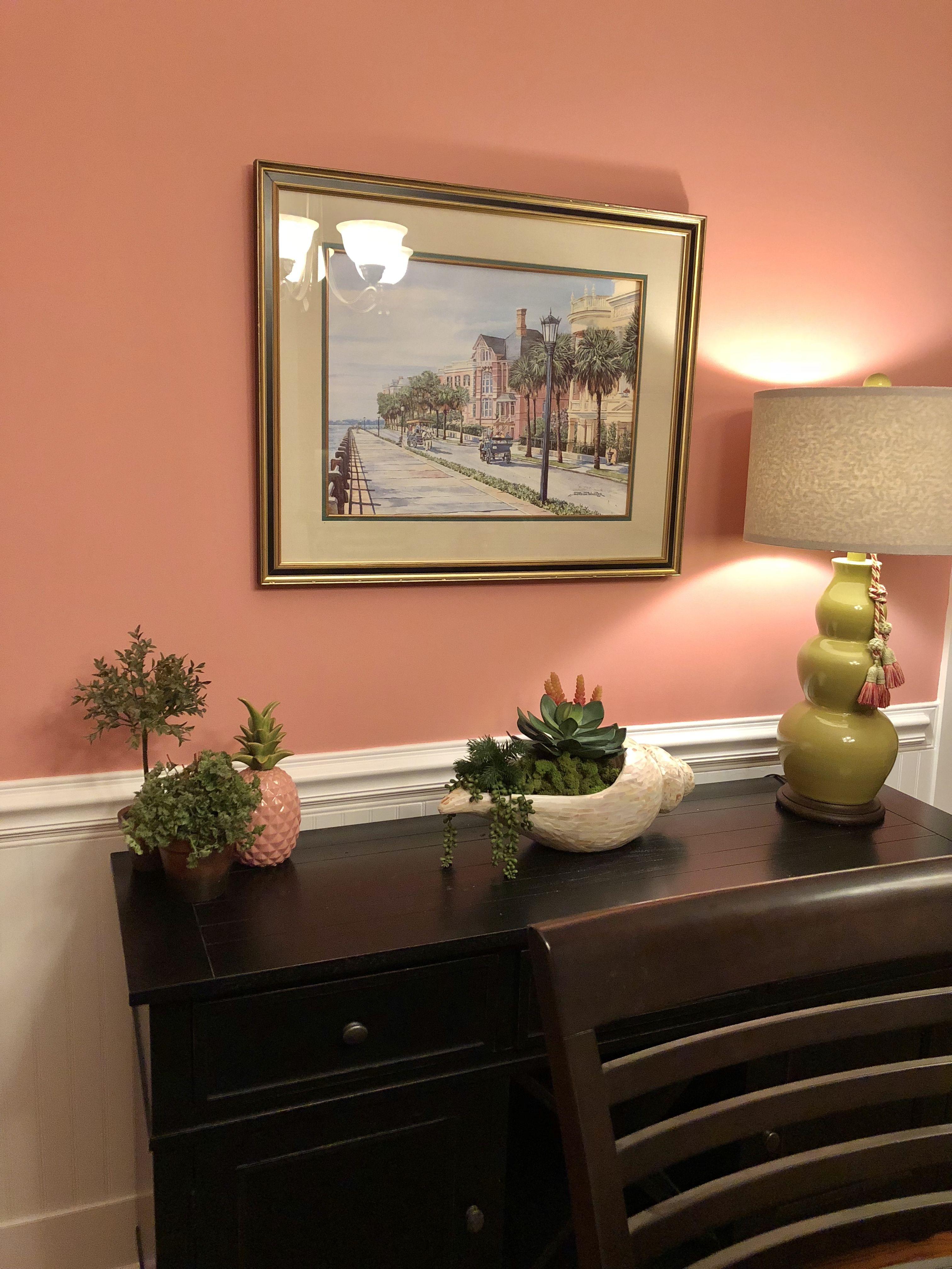 Custis Salmon Benjamin Moore | Dining room paint colors ...