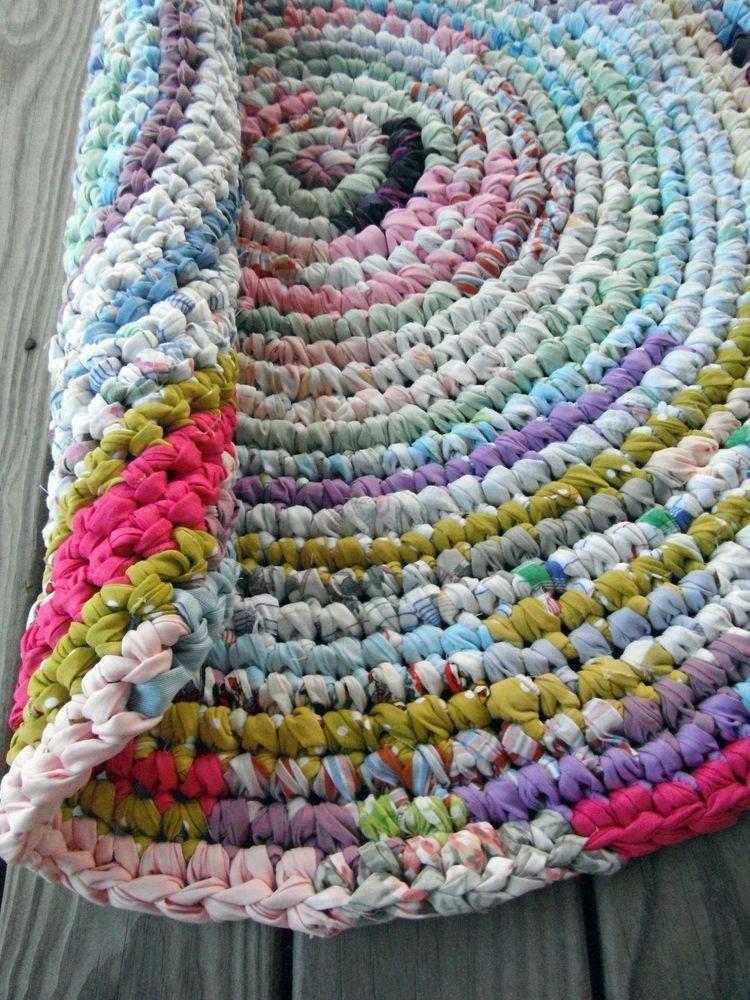 Carpet Runners End Of The Roll Stairswithcarpetrunners Crochet Rag Rug Rag Rug Tutorial Rag Rug