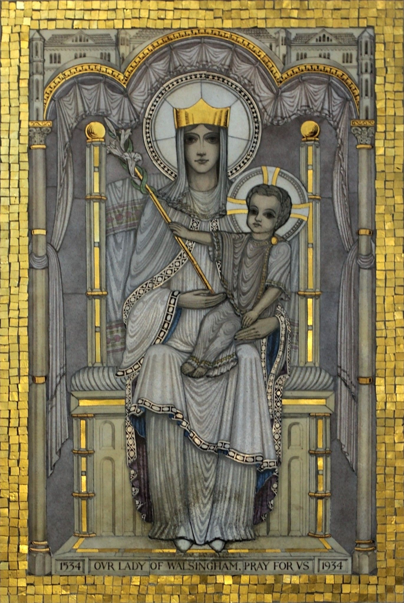 Lady Of Walsingham Mosaic In Cathedral