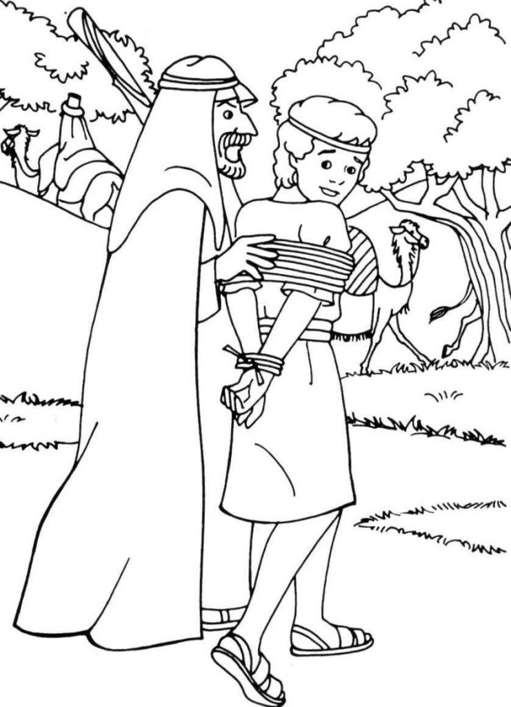 Joseph Coloring Pages | Sunday school coloring pages ...