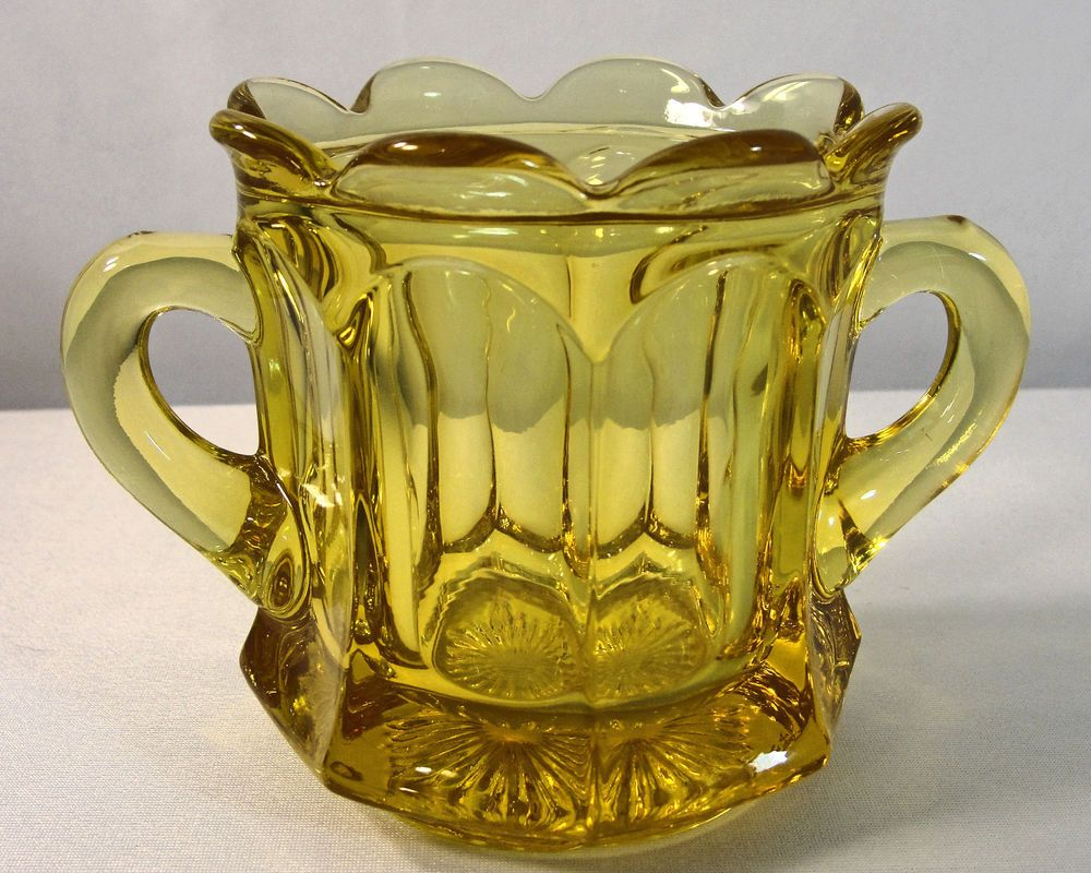 Yellow sugar bowls with lids - Imperial Old Williamsburg Yellow Open Sugar Bowl 341 Imperial