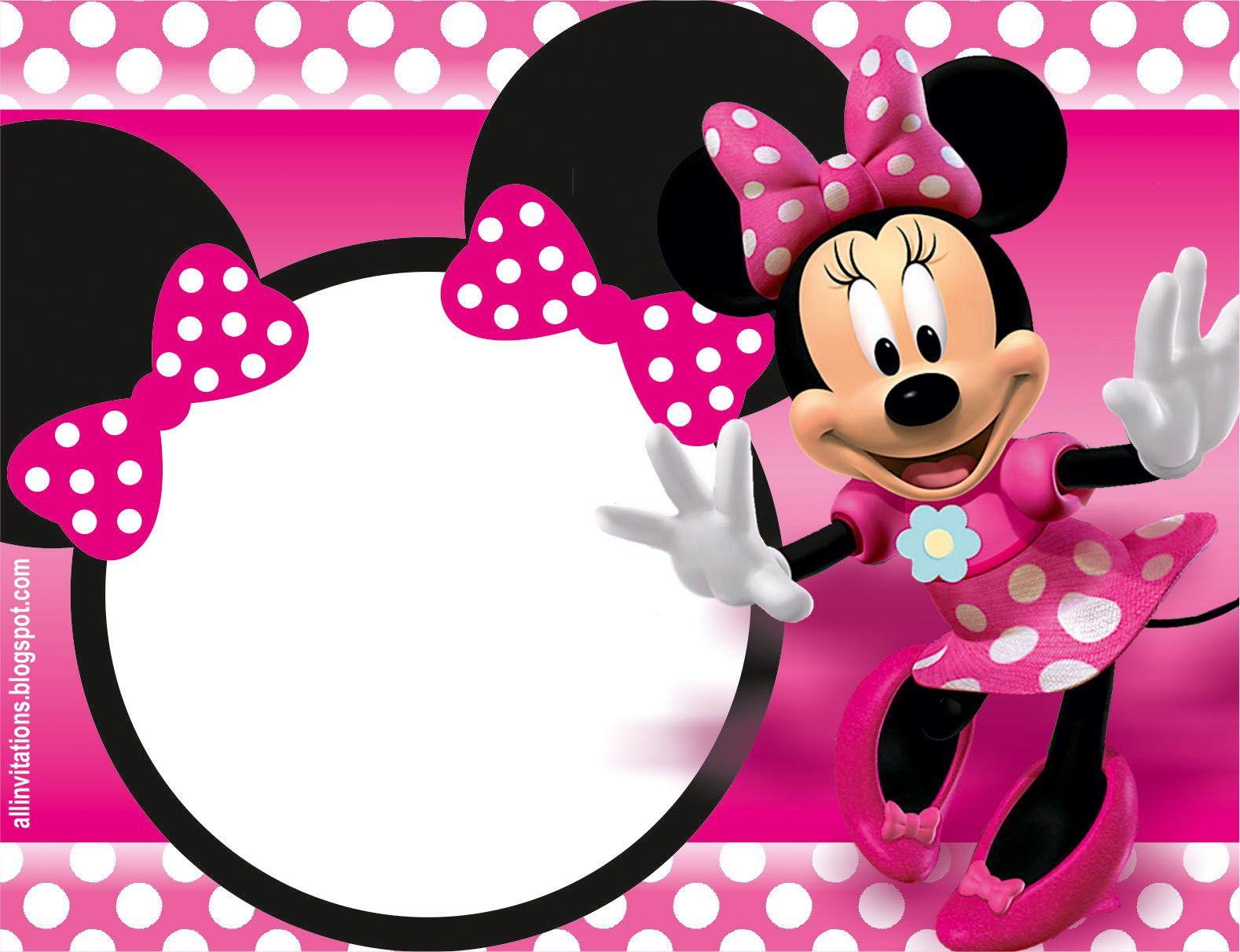 Plantilla Para Invitacion De Mimi Minnie Mouse En 2018