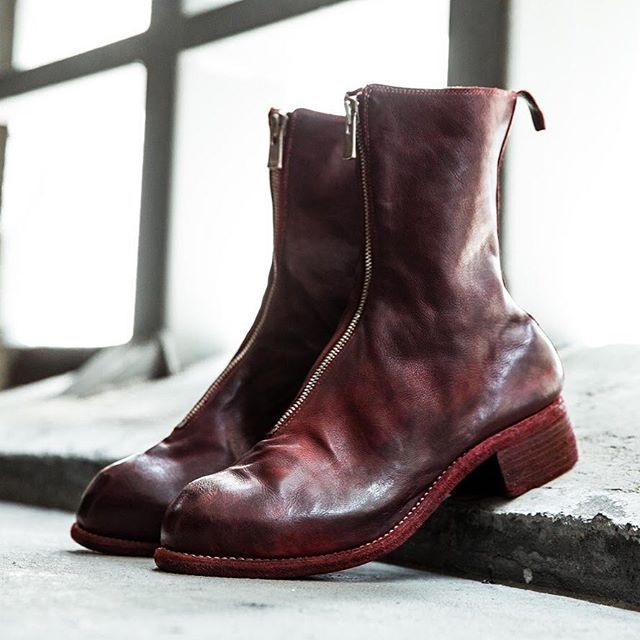 3f17b9d6318e Guidi PL2 Front Zip Boots in Red. Available both in store and online at  www.larmoire-singapore.com  larmoiresg