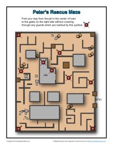 Peter's Rescue - Printable Maze Activity for Kids | Peter