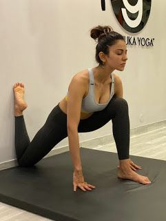 with cute expressions while doing yoga  yoga poses