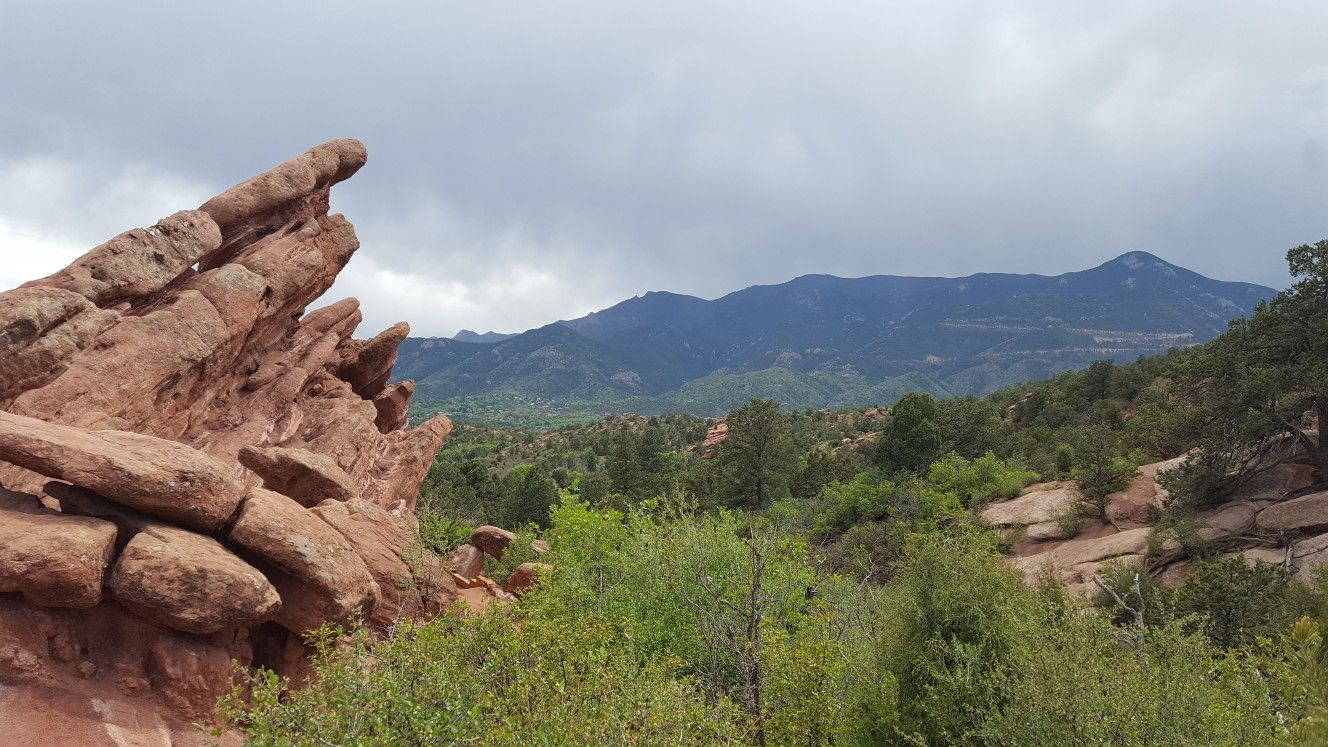 Hiking in the Garden of the Gods, Colorado Springs.