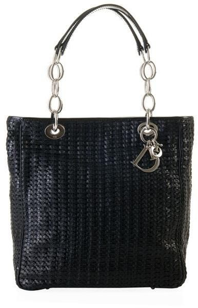 beccf2b284961b Dior Woven Leather Tote Bag in Black - Lyst | STYLE - Bags I love ...