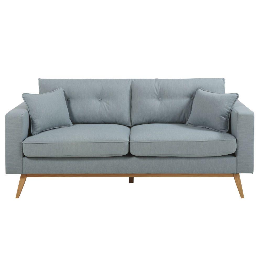 Khaki Green 3-Seater Scandinavian-Style Sofa in 2019 | Obývačka ...