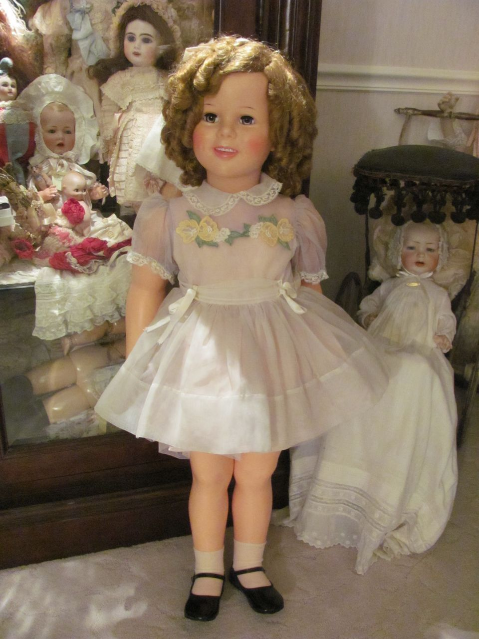 Beautiful 36 Tall 1959 Shirley Temple Playpal All Original Ideal Doll Co Shirley Temple Vintage Dolls Dolls