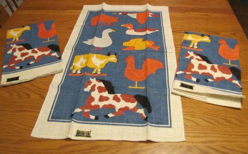 lot 3 KayDee Unused Vintage Linen Kitchen Towel