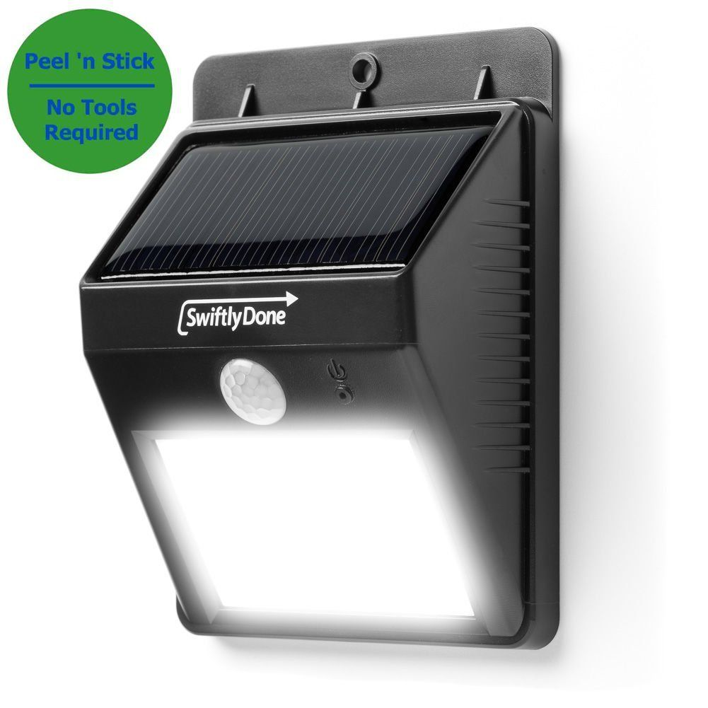 Amazon.com : Swiftly Done™ Bright Outdoor LED Light Solar Energy Powered    Weatherproof