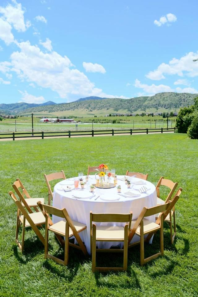 Chatfield Botanic Gardens wedding reception. Denver Colorado.