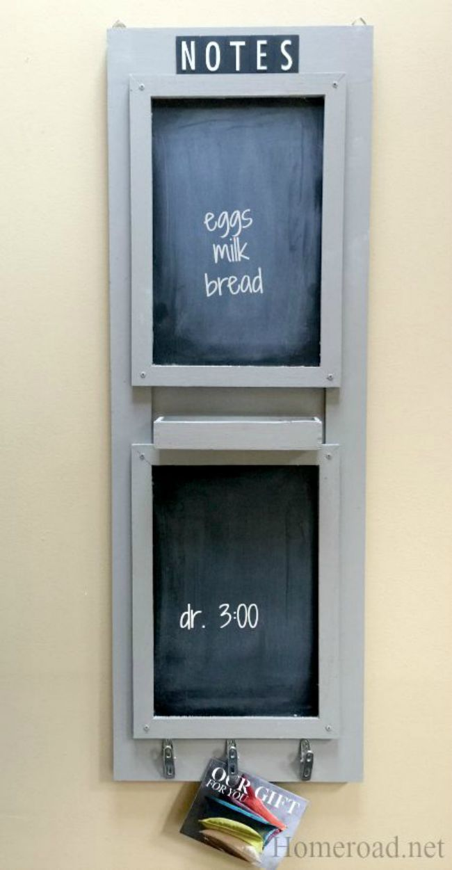 Double Chalkboard Message Center www.homeroad.net