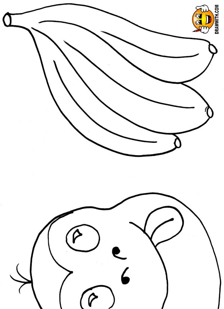 Free Monkey And Bananas Coloring Pages For Kids Which Includes A Color Along Video Tutorial